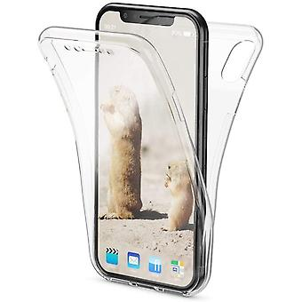 Full cover transparent TPU shell for iPhone