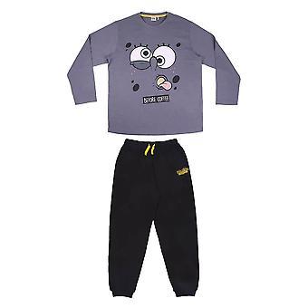 Mænd's SpongeBob SquarePants 'Before Coffee' Cuffed Pyjama Set