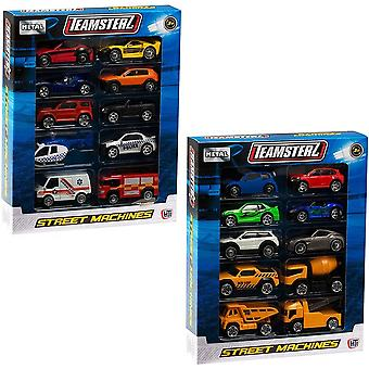 "Teamsterz 10 Assorted Cars  3"" Street Machines"
