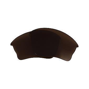 Replacement Lenses for Oakley Half Jacket XLJ Sunglasses Anti-Scratch Dark Brown