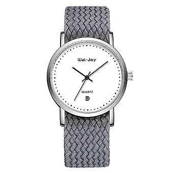 Wal-Joy WJ9007 Student Watch Simple Date Display Nylon Strap Female Quartz Wrist