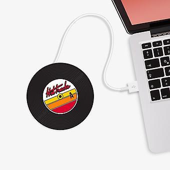 Mustard - hot tracks vinyl record usb cup warmer