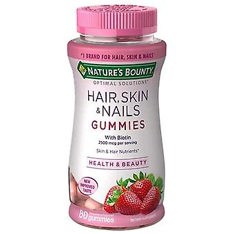 Nature's bounty hair, skin & nails gummies, strawberry, 80 ea