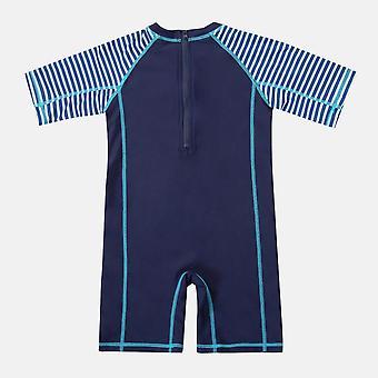 Drengens badetøj Fisk Trykt Udslæt Guard Kortærmet Badedragt
