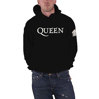Queen Hoodie Band Logo Applique Crest new Official Mens Black Pullover Black