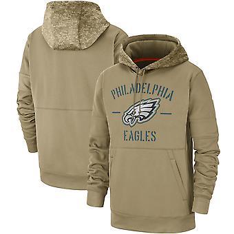 Menn's Philadelphia Eagles Slant Strike Tri-Blend Raglan Genser Hettegenser Topp WYG040