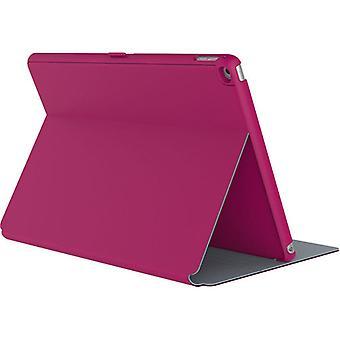 סגנון ספקפוליו מקרה עבור אפל iPad מיני 2, מיני 3 - פוקסיה ורוד / ניקל אפור