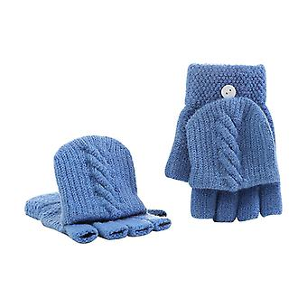 New Adult Kids Fingerless Half Finger Winter Soft Unisex Basic Gloves