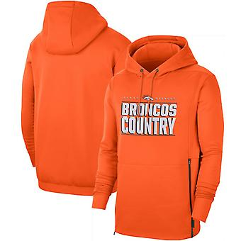 Denver Broncos Men's Sideline Local Performance Pullover Hoodie Top WYX060