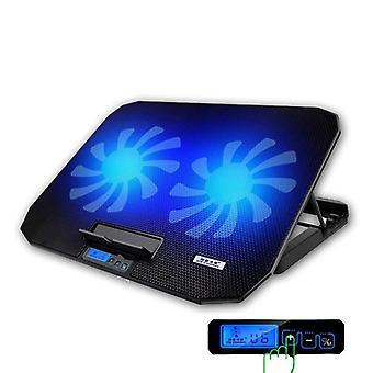 2 USB porty a dva chladiace ventilátor nastaviteľné rýchlosť notebooku chladiaci podložka stojan