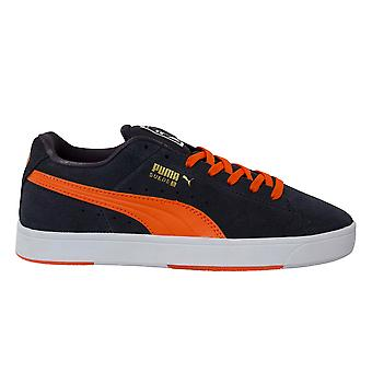 Puma Suede S Junior Grey Suede Leather Lace Up Trainers 359450 04