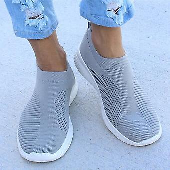 المرأة شقة زلة على أحذية رياضية خفيفة الوزن عارضة أحذية الشقق