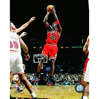 Michael Jordan 1997-98 Action Photo Print