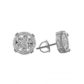 925 Sterling Silver Screw Back Earrings