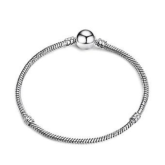 Charm Armband, Legerad Snake Chain Grundläggande Armband för modekvinnor