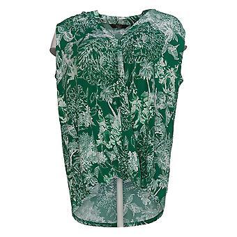 G.I.L.I. Got It Love It Women's Top Printed Surplice Knit Green A380173