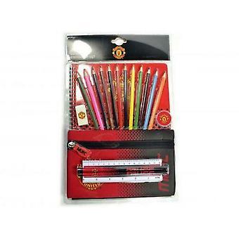 Manchester United FC Fade Stationery Set (Confezione da 19)