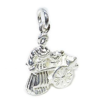 Molly Malone Sterling Silver Charm .925 X 1 Dublin Street Seller Charms - 8354