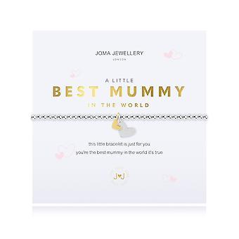 Joma Jewellery a little best mummy in the World Silver 17.5cm Stretch Bracelet 4309