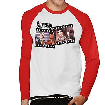 Stingray Marina And Troy Tempest Film Roll Men's Baseball Long Sleeved T-Shirt
