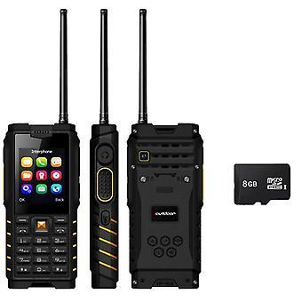 """Waterproof Shockproof Keyboard Rugged Mobile Phone 2.4"""" Walkie-talkie Intercom"""