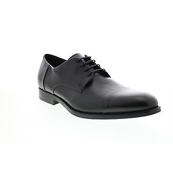 Geox U Hampstead Mens Black Leather Oxfords & Lace Ups Plain Toe Shoes