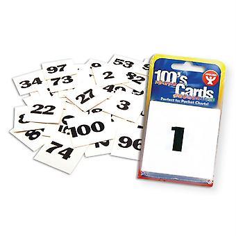 """Tarjetas 100S, Numeradas 1-100, 2"""" X 2"""""""