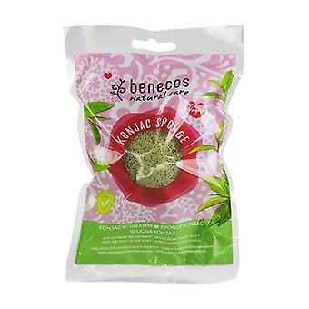 Konjac Sponge / Green Tea 1 unit (Green)