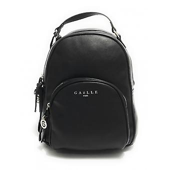 Gaëlle Women's Bag Black Faux Leather Backpack With Logo Bs21ge05 Gbda2165