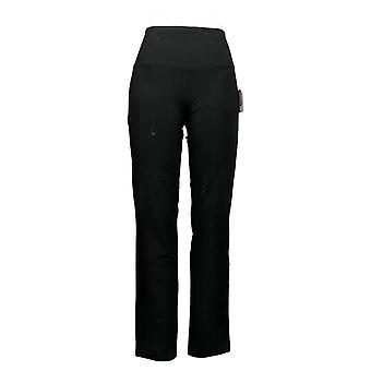 Vrouwen met Control Women's Reg Tummy Control Slim Leg Pants Zwart A284089