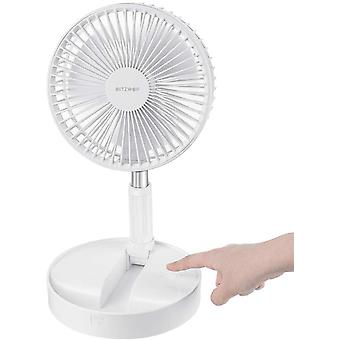 BlitzWolf USB Desk Fan, 7200mAh Battery Foldable Stretchable Fan Ultra Compact Pedestal Fan Portable