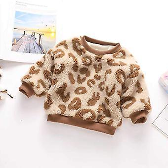חורף חם סריגה תינוק תינוק בתוספת סוודר קטיפה, שרוול ארוך / בנות למעלה