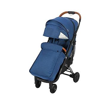 Foldable Baby Stroller With Leather Armrest & Handle