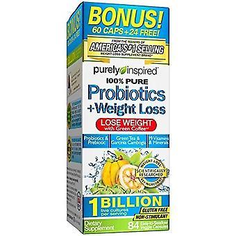 Purely Inspired 100% Probióticos Puro 84 cápsulas veganas
