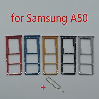 Sim-kortin lokeron pidike Samsung Galaxy A50 A505f A505fm A505fn alkuperäinen puhelin