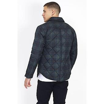 Quilted Collar Detail Checked Jacket