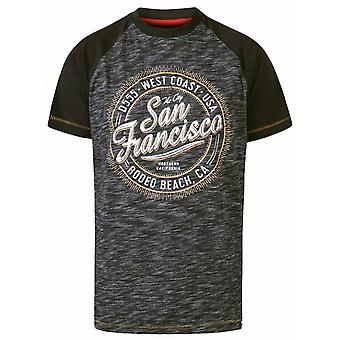 DUKE Duke Mens Big Size - Sunderland - D555 San Francisco Thème Cotton Crew Neck T Shirt