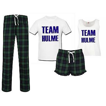 Team Family Surname Tartan Christmas Pyjama Couples Set