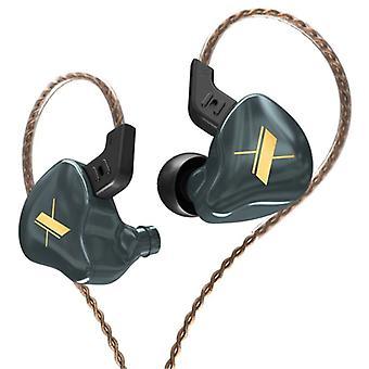 KZ EDX 1DD Earphones - 3.5mm AUX Earpieces Noise Control Volume Control Wired Earphones Earphone Gray