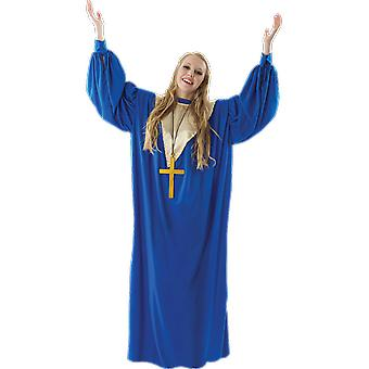 Orion kostuums Women's Blue gospel koor zangeres gewaad fancy dress kostuum