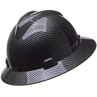 Carbon Fiber Safety Helmet Men Wide Brim Protection Hat