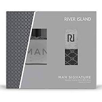 River Island Man Signature Gift Set 100ml EDT+ 2 Pairs Of Socks