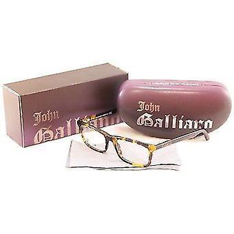 John Galliano Eyeglasses Frame JG5012 052 Plastic Black Tortoise Italy 53-18-140