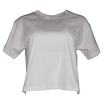 Champion Women's Seasonal Metallic Logo T-Shirt, Branco (Ww001), XL Woman