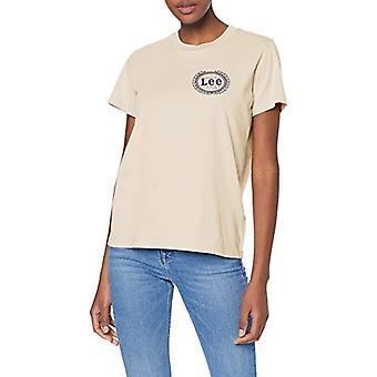Lee Emblem T T-Shirt, White (Ecru Lo), Large Woman