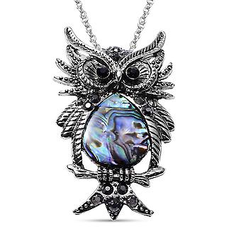 TJC Owl Necklace for Women 20 '' Multi Stone Animal Lover Gift 12ct