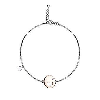 Eudora - Love & Hugs Token Icons Bracelet - 16cm + 2cm extender - Silver - Jewellery Gifts for Women from Lu Bella