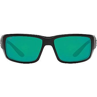 Costa Del Mar Mens Fantail 580G Polarized Rectangular Sunglasses - Blackout/Copper Green Mirrored - 59 mm