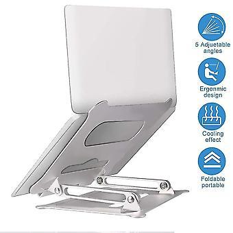 Alumiiniseos säädettävä kannettava st taitettava kannettava macbook tietokonekiinnike nosto jäähdytysteline liukumaton pl-531