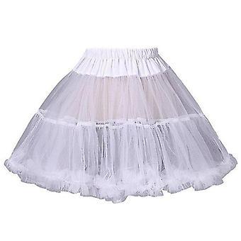 Kvinner Ruffled Short Petticoat, Fluffy Bubble Tutu Skjørt